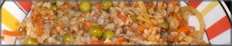 Рецепт гречки з зеленими овочами