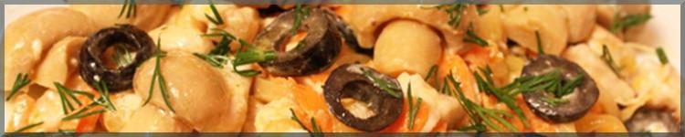 Салат з ананасами, куркою і грибами