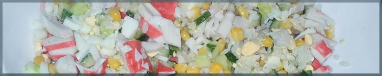 Салат крабові палички з кукурудзою