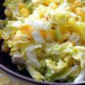 Салат з пекінської капусти із куркою і кукурудзою