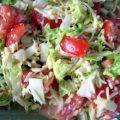 Салат з пекінської капусти і помідорів