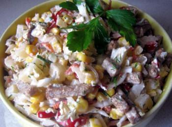 Пісний салат з пекінської капусти