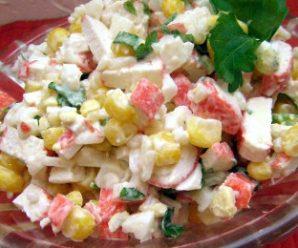 Салат з крабовими паличками і кукурудзою