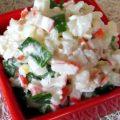 Салат з рисом і крабовими паличками